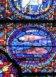 pisces in stained glass