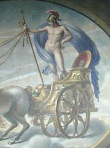 Mars on chariot